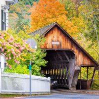 Woodstock, Vermont, USA Middle Covered Bridge.
